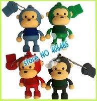 Wholesale  30pcs/lot full capacity monkey usb flash drive 4GB USB FLASH