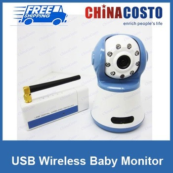 Digital Wireless USB Camera,Video Baby Monitor,2.4GHz Color DVR,For PC laptop,Fedex FREE SHIPPING