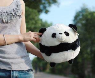 Free shipping GenuinePandawayUltra-simulation of the giant panda doll Plush Toys Lovers Doll Ball Panda-