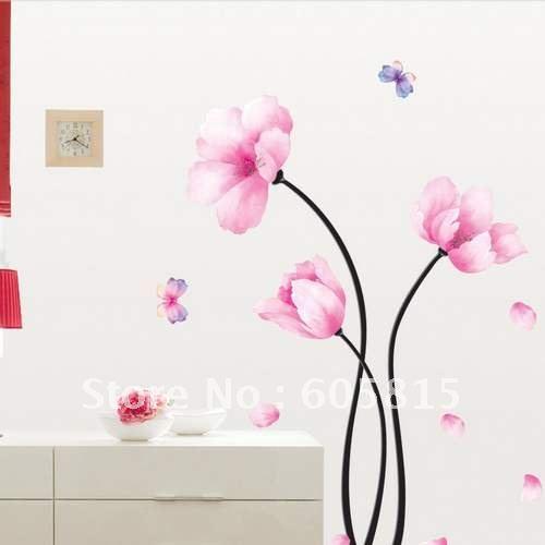 Levende bloemen muurschildering koop goedkope levende bloemen muurschildering loten van chinese - Deco muurschildering ...