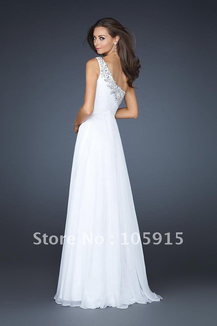 Long White Graduation Dresses - Red Prom Dresses