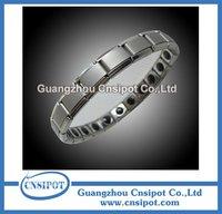 bio health stainless steel negative ion germanium bracelet balance bands 20pcs/lot