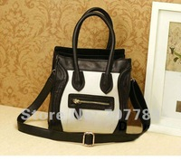 2011 new style women handbag bags tote PU Messenger bag free shipping
