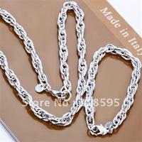 Wholesale - & Hot sell !925 sterling silver  Grape Vine Necklace&Bracelet set for sale S053