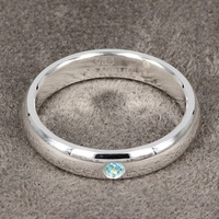 Free Shipping|Wholesale Jewelry |Silver Ring |Fashion Silver Jewelry| Set Blue Stone smooth ring | Factory Price|925 Silver