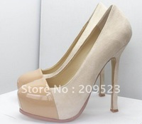 NEWEST nude Party shoes Women's high heel pumps shoes/ fashion suede shoes