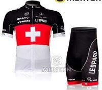 2012 fangle  Leopard-Trek team short Sleeve bike cycling Jersey+shorts set cycling bicycle cycle bike wear clothing