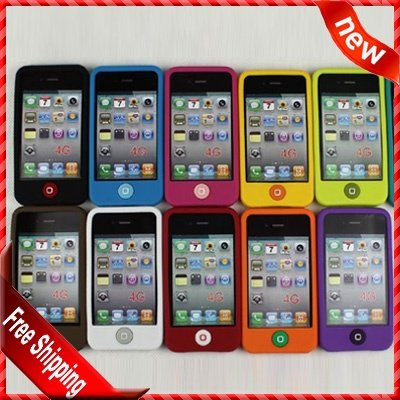 For Apple iphone 4S case, Hot selling Soft silicone cover Jelly Bean case for iphone 4 4S by DHL Free Shipping(China (Mainland))