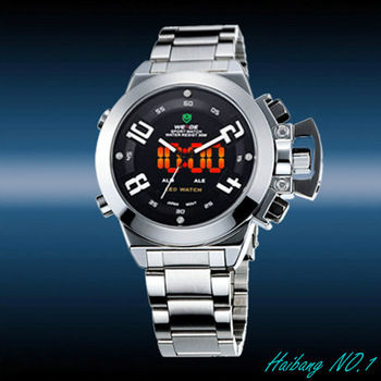 100% Genuine! WEIDE Men's Digital Analog LED Light waterproof QUARTZ Sport Watches WH-1008-1