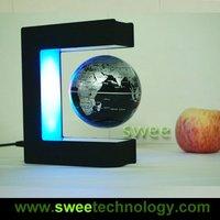 F-New Arrival: Promotion! gift 3 inch amazing floating globe, magnetic levitation globe  E Shape Base Christmas Gifts