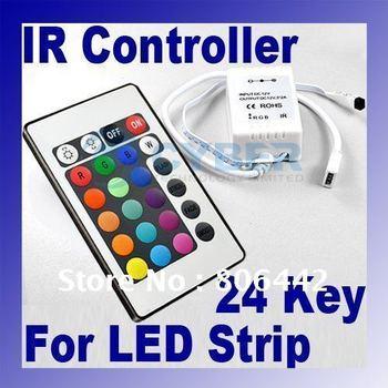 DC 12V 24 keys IR Remote Controller For RGB LED Strip Light dropshipping 2742