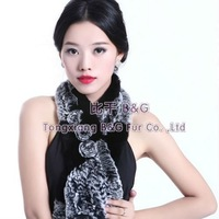Женский шарф BG5970 Thick Fur Many Colors Genuine Fox Fur Collar Women's Winter Warmer scarf