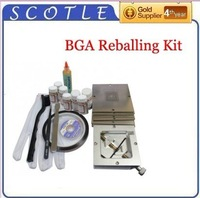 48pcs Intel 90*90mm BGA Stencils+Reballing Station+Solder Flux+Tweezer+Other BGA Accessories