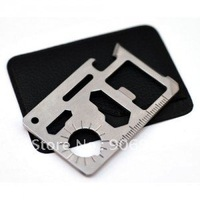 F305 6cm 10 in 1 wholesale Emergency Outdoor Multi Tool Army marine military Hunting Survival Kit Pocket Credit Card Knife gift