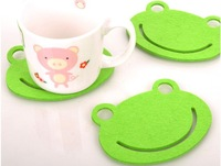 Free shipping: OEM/DIY sweet cup mat/cup pad/coaster promotion gift, 2000pcs/lot
