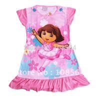 FREE SHIPPING sleep dress 8 pieces in 1 lot baby sleepwear Dora 01I lovely night dress
