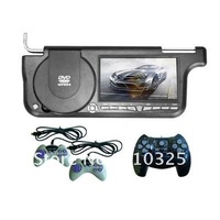 "Hot sale-7""Sunvisor car DVD player,car DVD player With Game+USB+SD+FM+Free shipping for retail/pcs"