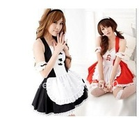 Sexy French Maid Waitress Costume Cosplay Dress Set
