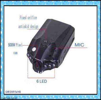 Car dvr,car video recorder,car camera,night vision ,6 IR LED,120 degree view angle,H198,car black box