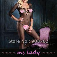 wholesale 10pcs/lot sexy lingerie body stocking fishnet black color free shipping HK airmail