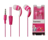 Free Shipping Different color earphone  for iPhone iPad with 3.5mm plug and 1.2m cord length available in various color