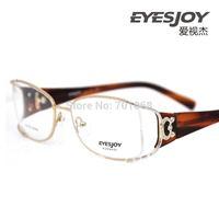 2014 Limited Cheap Desinger Eyewear Eyesjoy 1127 Lady Crystal Optical Frames Wholesale Glasses See Frame Eruo Design Spectacle