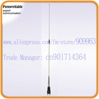 VHF antenna 17-7PH high elasticity tapered stainless whip could bend to a circle UHF connector M-P