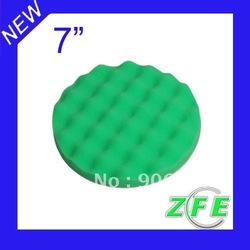 "7""Green Waffle Foam Cut Buff&Polishing Pad Car Wax(China (Mainland))"
