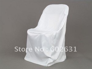 L-111,Hot sale of white chair cover for folding chair,high quality Polyester fabric,washable/durable
