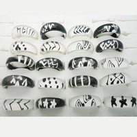 New arrival resin rings hot sale 100pcs/lot $9.99 kids rings mix styleblack and clear color free shipping