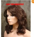 Medium Dark Brown Voluminous Stacked Layered Wig Wigs Brazilian fashion
