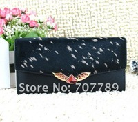2011 New style women real leather clutch wallet free shipping 5style Wholesale / Retail