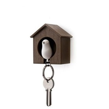 love nest bird Keychain black bird house 4 color white