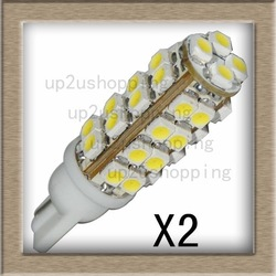 2pcs/lot 36 SMD T10 LED Light 168 194 501 W5W Pure White Turn Stop Corner Bulb Lamp for sample(China (Mainland))