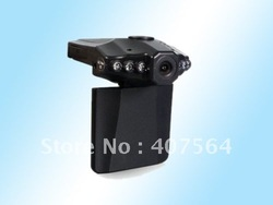 Free shipping H198 Car dvr with 6 IR LED night vision car video recorder 120 degree view angle(China (Mainland))