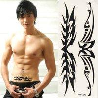 Waterproof tattoo sticker black totem tattoos
