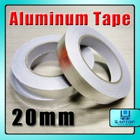 3pcs/Lot  Aluminum Tape 20mm x 40m Resist Heat Shield Adhesive 0.06mm thickness
