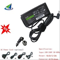 for sony 19.5V 5.13A ac adapter,free shipping,wholesale 100% Guarantee brand new,free power cord