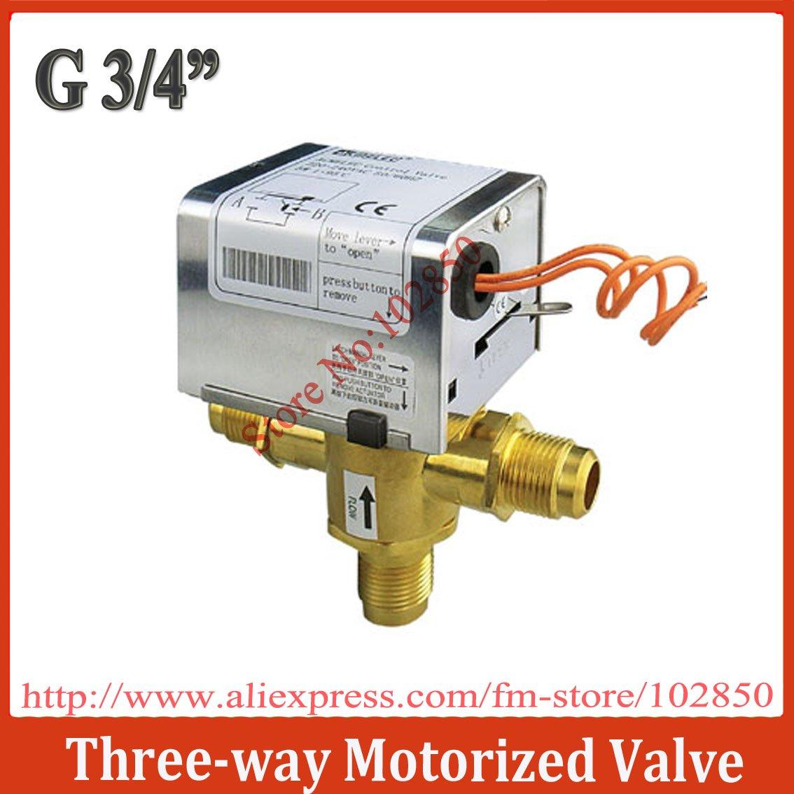 G3 4 Three Way Motorized Ball Valve 2pcs Lot 220 240vac50
