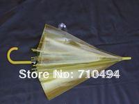 free DHL shipping yellow clear umbrella, yellow transparent poe&pvc umbrella, custom logo print acceptable