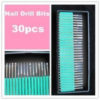 "Free Shipping-30PCS/set Drill Bits Kits drill set Shank 3/32"" Manicure and Pedicure"