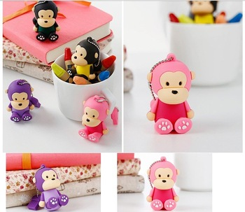 freeshipping 8GB mixing order 50pcs/lot Monkey usb ,animal pendrive with paper box package in the lowest price