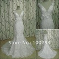 JJ2685  Free Shipping Newest Real Sample  Wholesale Beaded Mermaid  bridal gown 2012