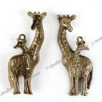 40pcs New Giraffe Shape Antique Bronze Tone Charms pendants Beads Antique bronze pendants Animal Jewerly 140786