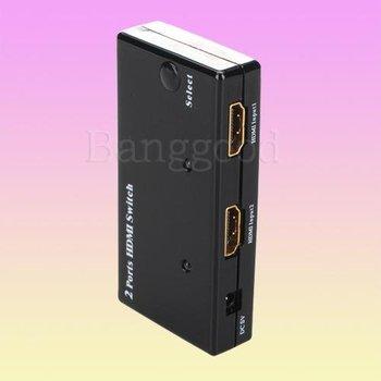 10pcs/lot 2 Ports Mini HDMI 1.3b Amplifier Switch Switcher c1080P HDTV HD-DVD PS3, Free Shipping
