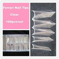 Free shiping Latest Fashion Strange Tips100pcs/box  Clear Nails Tips False Nail Art Tips Half Cover Wholesales