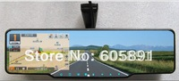 capacitor Touch Screen Car rearview mirror+ GPS+HD 720P DVR+bluetooth+Built-in radar detector,Russia,Hebrew Multi-language