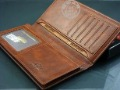 Free shipping(1 piecs) NEW cowhide long style Men's Wallet +  Business Card Folder + Business Card Bag  wholesale and retail
