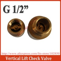 "G1/2"" Vertical Brass Spring Check Valve for Water,Oil and Gas,male inlet & female outlet"