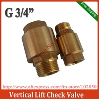 "Free shipping  Vertical Spring-loaded Check Valve for Water,Oil and Gas,G3/4"" male inlet & female outlet"